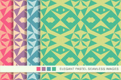 Elegant seamless pastel background set star triangle geometry Stock Photo