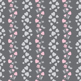 Elegant seamless pattern with abstract roses Royalty Free Stock Images