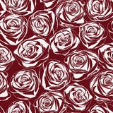 Elegant seamless pattern with abstract roses Royalty Free Stock Photos