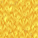 Elegant seamless pattern with abstract yellow fire flames for your design. Eps-8 Stock Photos