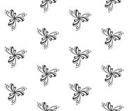 Elegant seamless pattern. Black and white pattern with elegant shapes made with curvy lines Royalty Free Stock Images