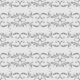 Elegant seamless pattern with classic tracery on a white background. Vector. Illustration Royalty Free Stock Photography