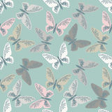 Elegant seamless pattern with cute butterflies Stock Photo