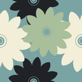 Elegant seamless pattern with decorative flowers Royalty Free Stock Image