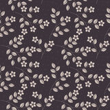 Elegant seamless pattern with decorative flowers and leaves Royalty Free Stock Photo
