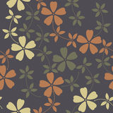 Elegant seamless pattern with decorative flowers and leaves Royalty Free Stock Image