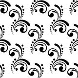 Elegant seamless pattern design with swirls and Stock Image