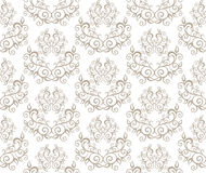 Elegant Seamless Pattern of Floral Vintage CLassic Vines Royalty Free Stock Photos