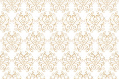 Elegant Seamless Pattern of Floral Vintage CLassic Vines Stock Photography