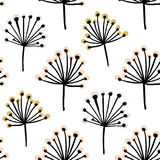 Elegant seamless pattern with flower branch. Scandinavian style  background. Great for fabric,textile,wallpaper Stock Photo