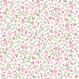 Elegant seamless pattern with flowers Stock Photo