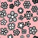 Elegant seamless pattern with flowers Royalty Free Stock Photo