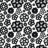 Elegant seamless pattern with flowers Royalty Free Stock Photos
