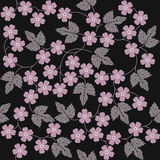 Elegant seamless pattern with flowers and leaves royalty free illustration