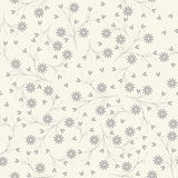 Elegant seamless pattern with flowers and petals on ivory backgr Stock Photography