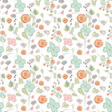 Elegant seamless pattern with flowers, vector illustration Royalty Free Stock Image