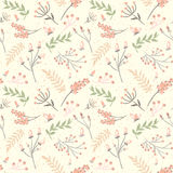 Elegant seamless pattern with flowers, vector illustration Royalty Free Stock Photos