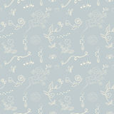 Elegant seamless pattern with flowers, vector illustration Stock Photography