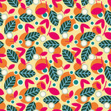 Elegant seamless pattern with leaves. Royalty Free Stock Image