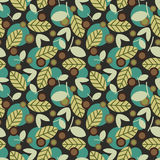 Elegant seamless pattern with leaves. Royalty Free Stock Photography