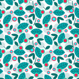 Elegant seamless pattern with leaves. Royalty Free Stock Photos
