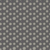 Elegant seamless pattern of many gold and purple snowflakes on d. Ark grey background. Christmas winter theme for gift wrapping. New Year seamless background for Royalty Free Stock Photography