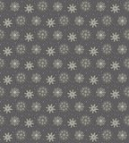 Elegant seamless pattern of many gold and purple snowflakes on d Royalty Free Stock Photos