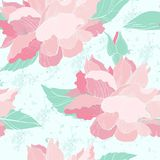 Elegant seamless pattern with rose flowers Royalty Free Stock Photo