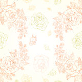 Elegant seamless pattern with roses Stock Photography