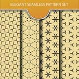 Elegant seamless pattern set Stock Photo