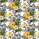 Elegant seamless pattern with small flowers. Royalty Free Stock Photography