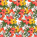 Elegant seamless pattern with small flowers. Stock Image