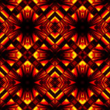 Elegant seamless pattern of stained glass or chrome. Stylish seamless pattern reflecting and refracting elements of the rhombic structures in fire colors Stock Image