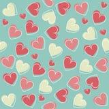 Elegant seamless pattern with stylish hearts Royalty Free Stock Photos