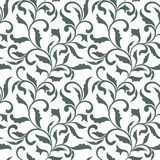 Elegant seamless pattern. Tracery of swirls and decorative leave Royalty Free Stock Photo