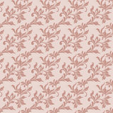 Elegant seamless pattern. Tracery of swirls and leaves on a pink Royalty Free Stock Photography