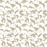 Elegant seamless pattern. Tracery of twisted stalks with decorat Royalty Free Stock Photo
