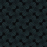 Elegant seamless pattern traditional tile blue dashed line Royalty Free Stock Photos