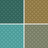 Elegant seamless patterns, set of four colors Stock Photo