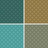 Elegant seamless patterns, set of four colors Stock Photo