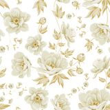 Elegant seamless peony pattern. Royalty Free Stock Photography
