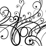 Elegant seamless scribble floral ornament Stock Photography