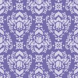 Purple damask seamless vector pattern royalty free illustration