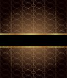 Elegant seamless wallpaper with golden fine decoration and place for your text.  Stock Images