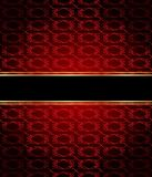 Elegant seamless wallpaper with golden fine decoration and place for your text.  Royalty Free Stock Photo