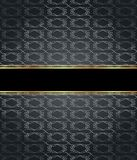Elegant seamless wallpaper with golden fine decoration and place for your text.  Royalty Free Stock Images