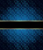 Elegant seamless wallpaper with golden fine decoration and place for your text. 