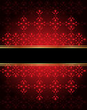 Elegant seamless wallpaper with golden fine decoration and place for your text. Royalty Free Stock Photos