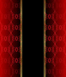 Elegant seamless wallpaper with golden fine decoration and place for your text. Stock Photos