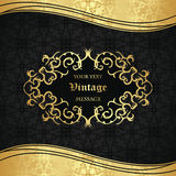Elegant seamless wallpaper with vintage frame Stock Image